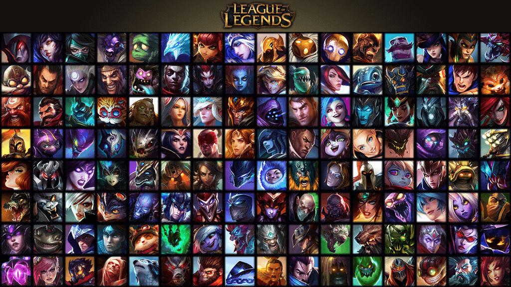 Champions in Legaue of Legends