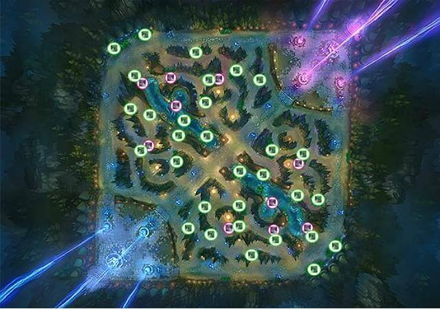 League of Legends Ward Location Map