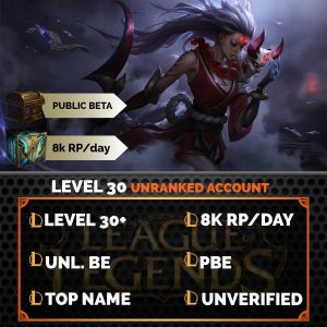 League of Legends Account on server Public Beta Environment