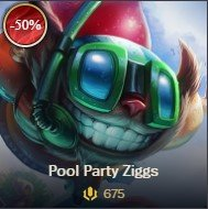 lol sale Pool Party Ziggs