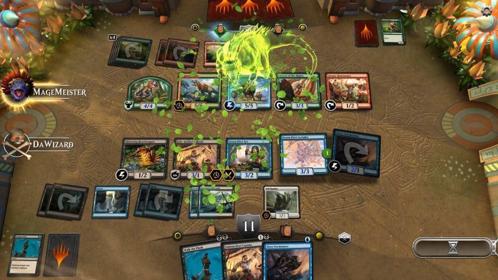 Digital version of Magic the Gathering called Arena