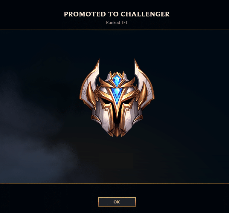 Teamfight Tactics Promotion Screen - Challenger Series Entry