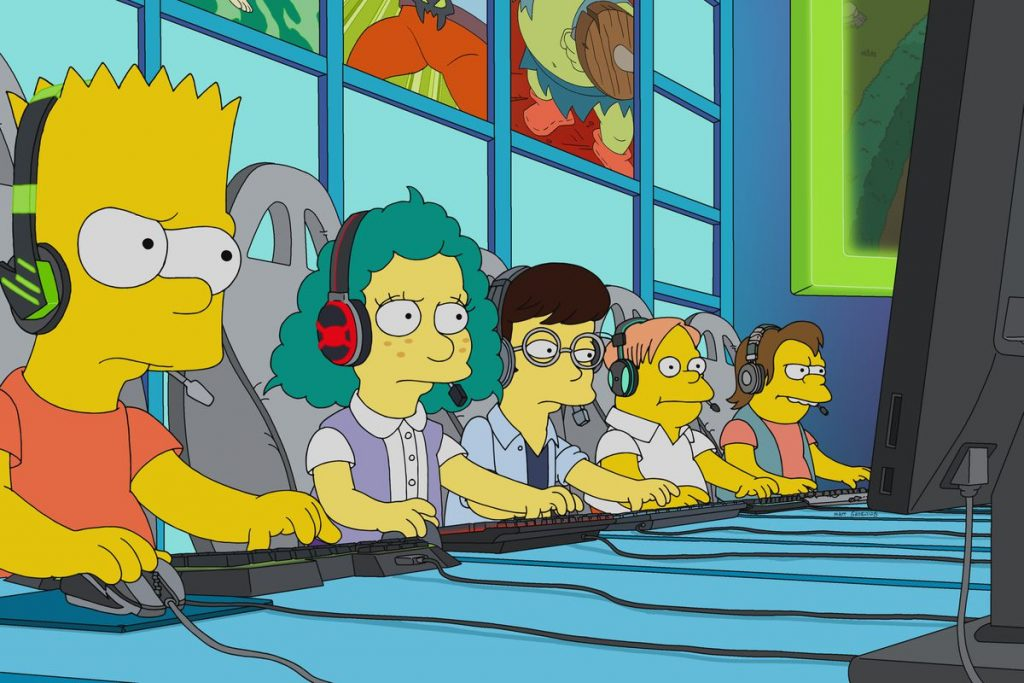 Simpsons teenager playing LoL - Buy a League of Legends Account