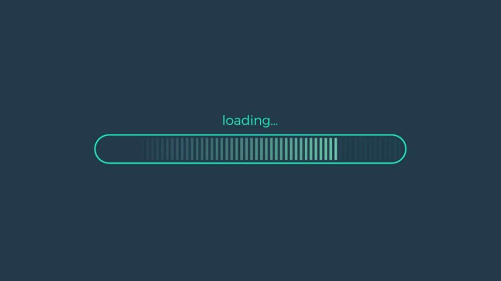 green loading bar, 4/5 loaded