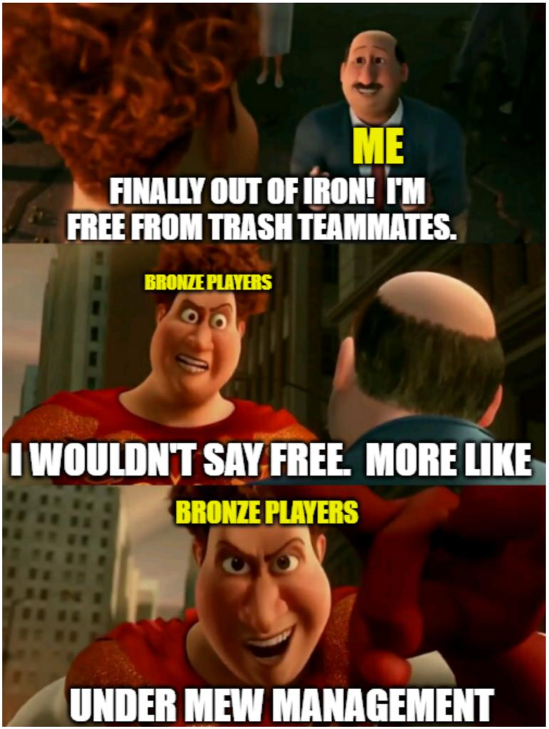 iron player thinking bronze will be any better than iron