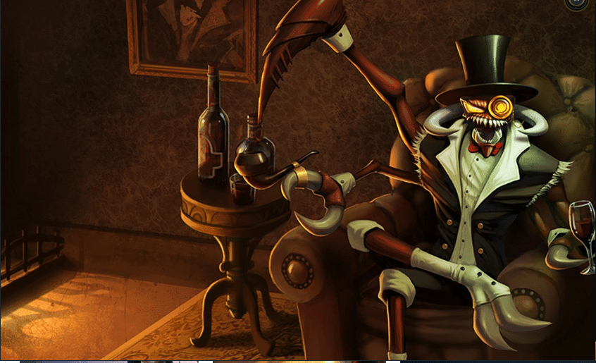 Gentleman Cho'gath enjoying his evening wine