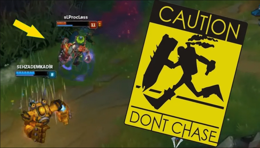 a sign saying you shouldnt chase the singed