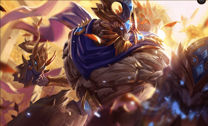 Victorious Maokai from the League of Legends free skin campaign