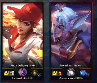 Sweetheart Rakan showing interest in Pizza Delivery Sivir