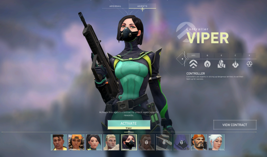 Viper featuring the other agents in Valorant