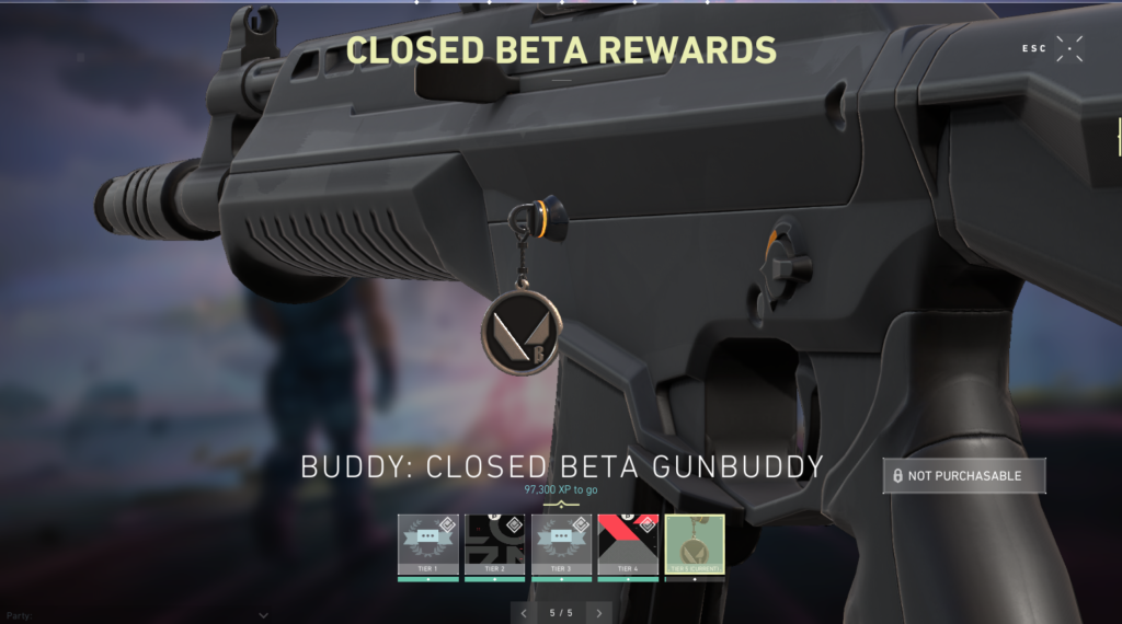 Valorant Gun Buddy Reward Exlusive for Beta Players
