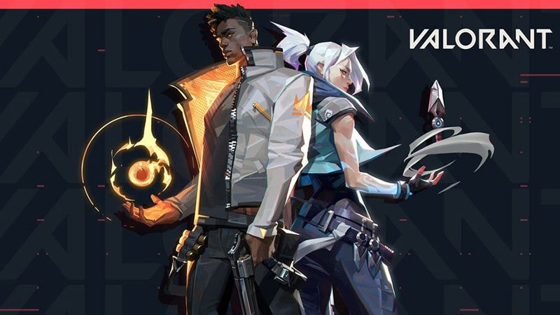 Valorant Art from the Game depicting two Agents.