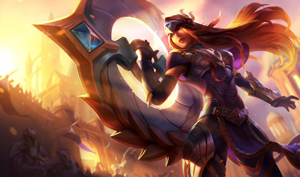 Victorious Sivir from the league of legends free skin campaign