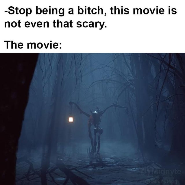 Picture of Reworked Fiddlesticks Describing How scary a movie is