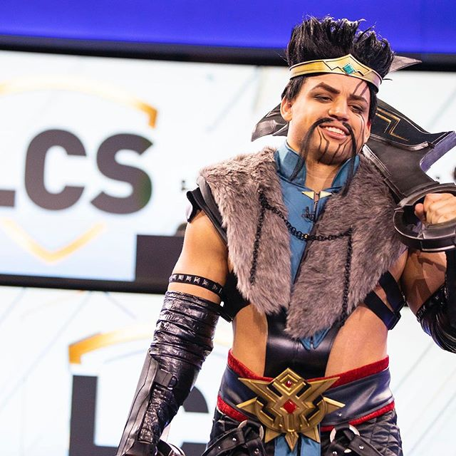 LCS Streamer Tyler1 cosplaying as Draven
