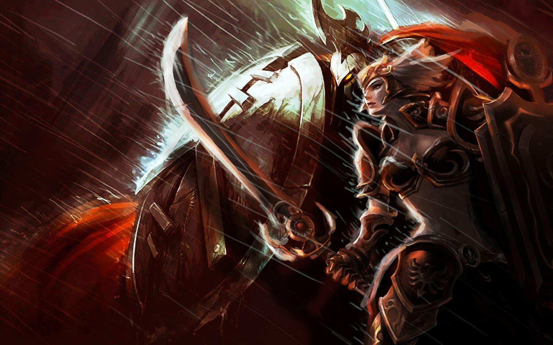 League of Legends Champion Pantheon Fanart Wallpaper