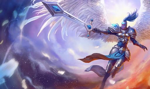 Silver Kayle, Kayle surrounded by angelic light and silver