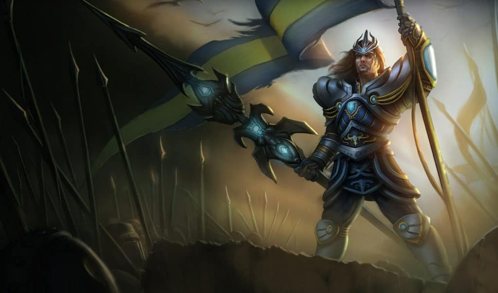 A very vintage image of Victorious Jarvan IV, the first victorious skin
