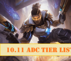 League of Legends ADC Tier List 10.11