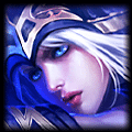 Champion close up photo of Ashe in ADC Tier List