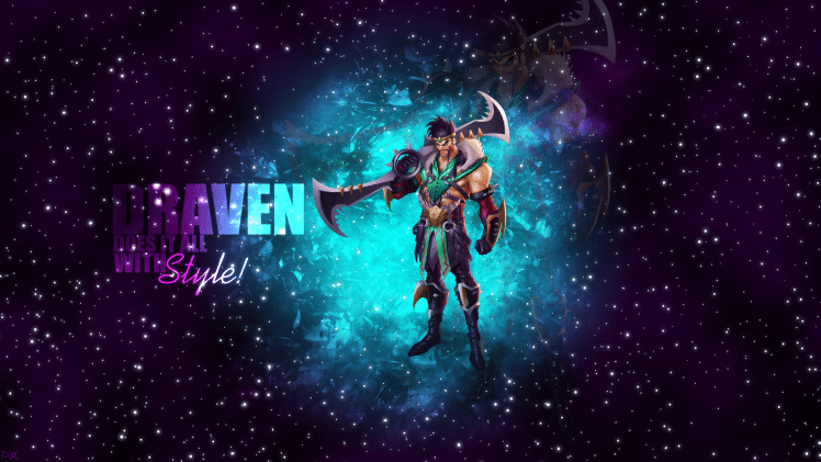 Draven in a Galactic Background