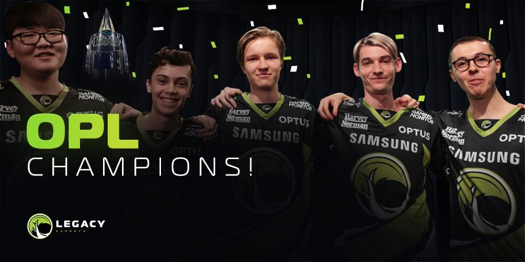 Legacy Esports as the 2020 Split 1 OPL Champions