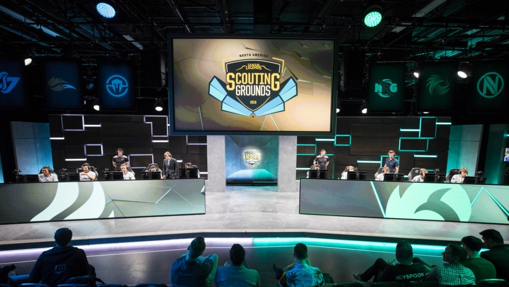 The NA LCS arena hosting the NA Scouting Grounds tournament