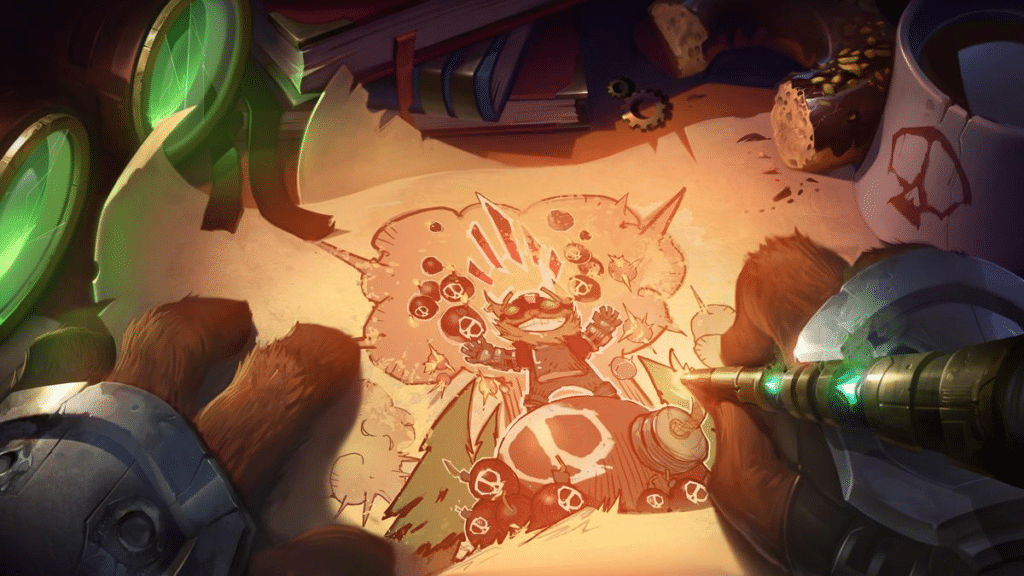 Official URF teaser showing Ziggs going crazy with his bombs