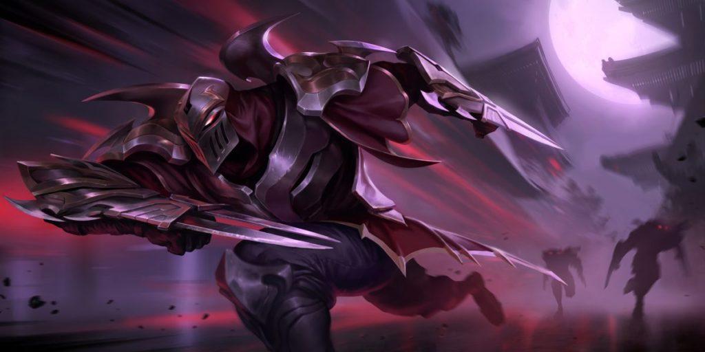 Splashart of Zed, the master of shadows