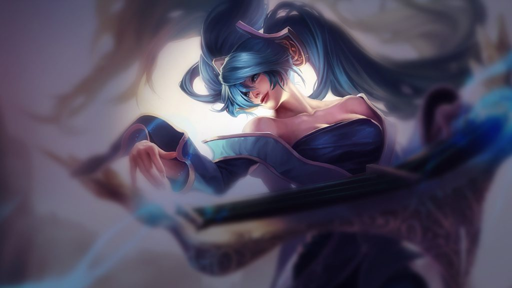 Classic Sona skin with blurred background for Sona Guide S10
