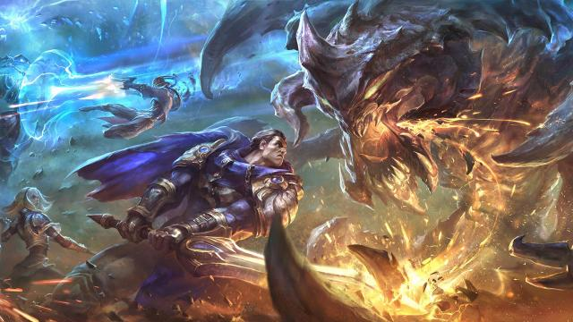 League of Legends Fan Art, showing fights between different Champions.