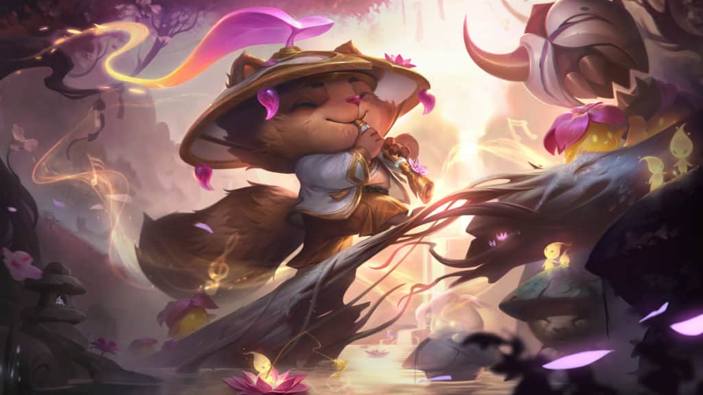 League of Legends Teemo Skin from the Spirit Blossom event.