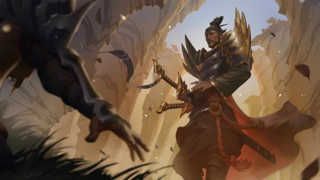 Yone in a duel to the death against Yasuo