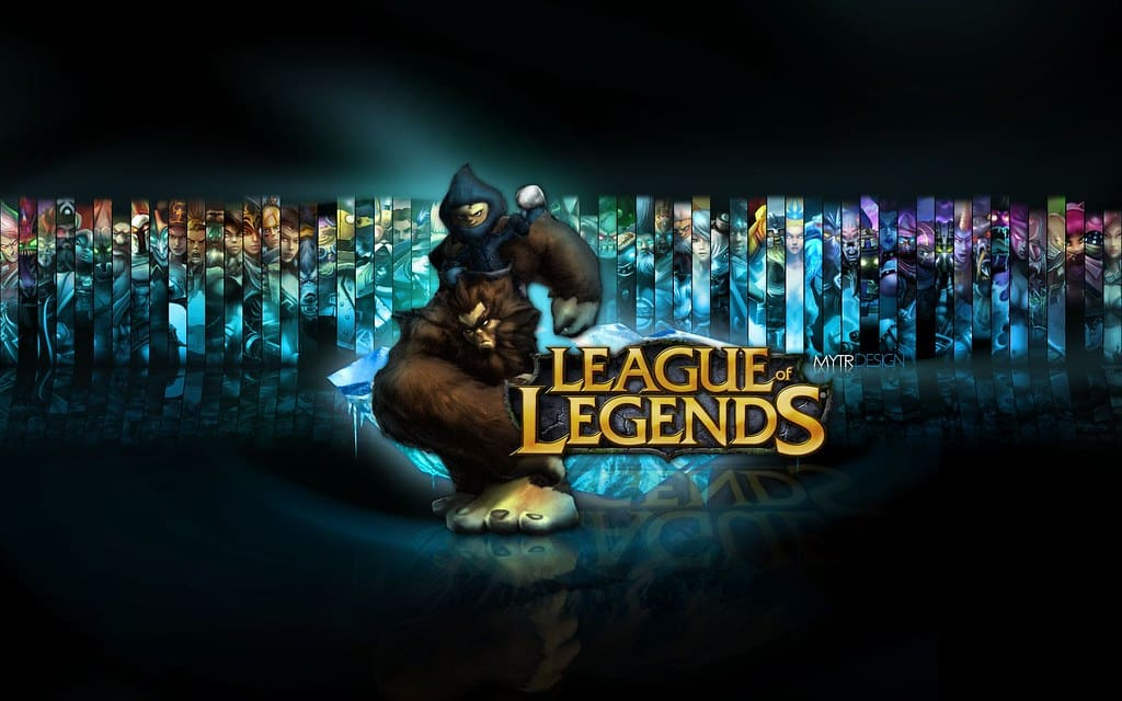 An old wallpaper of League of Legends from earlier seasons