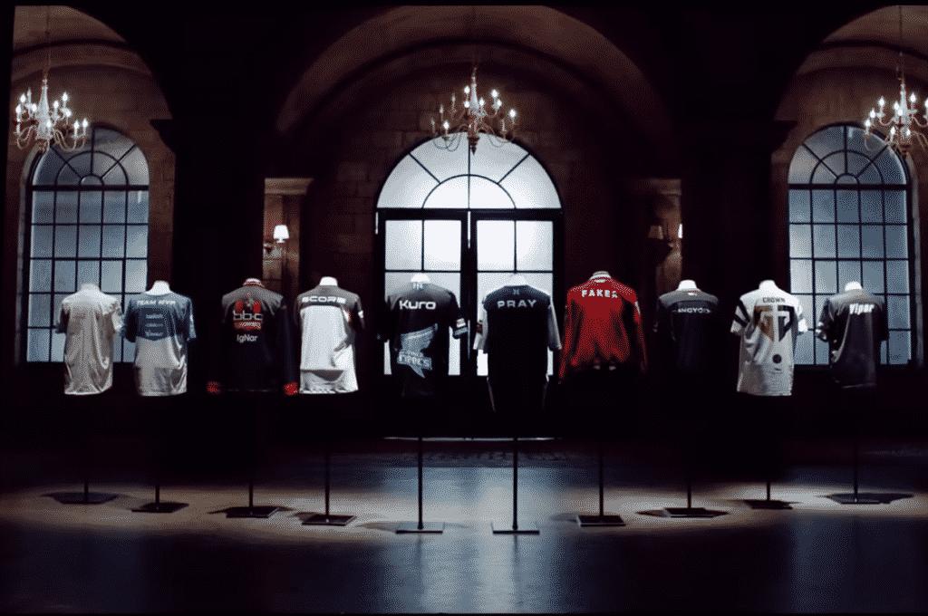 LCK Teams Jerseys lined up