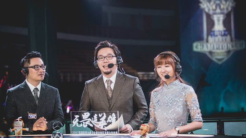 LPL casters on the analyst table