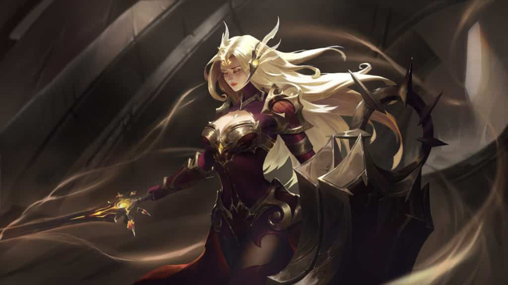 Leona with her large shield