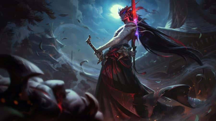 The champion reveal poster of Yone, the newest champion in League of Legends