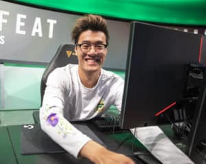Wildturtle before a game smiling at the camera