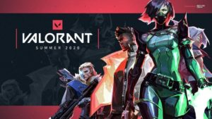 Sova, Phoenix, Viper, and Jett together in the valorant roles poster