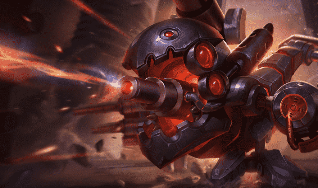 Kog'maw covered with guns and steel