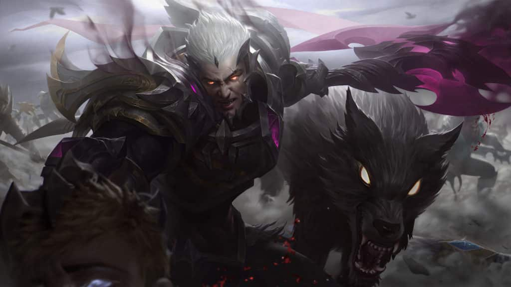God King Darius with his wolf
