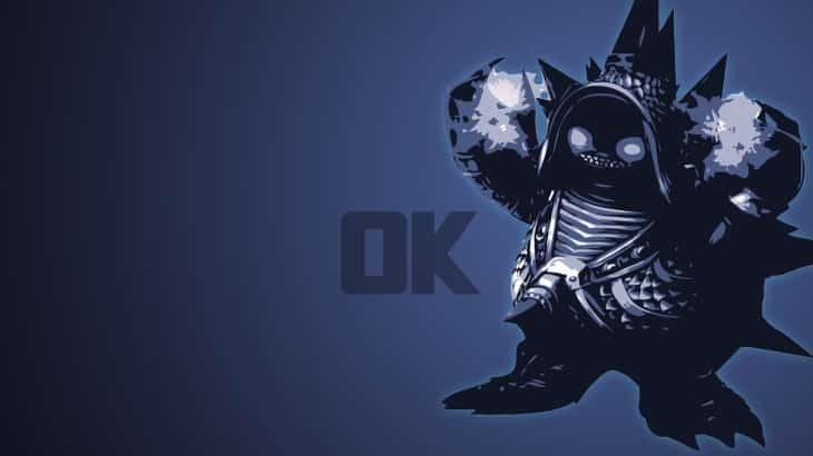 Chrome Rammus silhouette saying OK