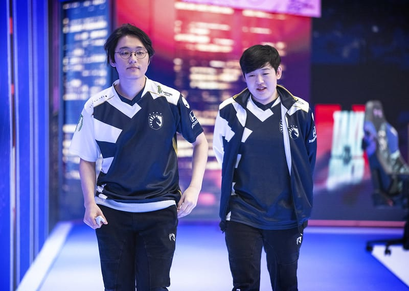 CoreJJ and Tactical walking side by side exiting the stage