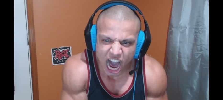 Tyler1 screaming into the screen