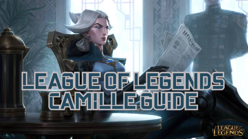 Camille reading the newspaper while sitting down - Camille guide banner