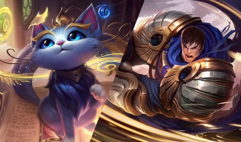 Garen and Yuumi side by side images