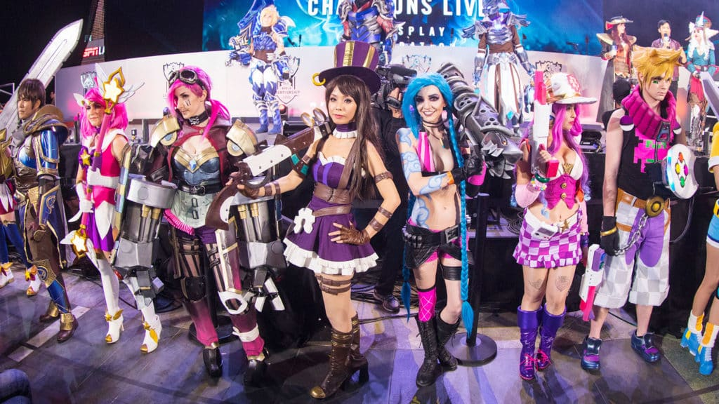 League of Legends Cosplayers displaying Esports Culture in the game