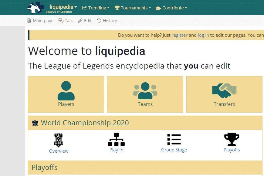 Liquipedia Wiki Homepage - Esports Sites