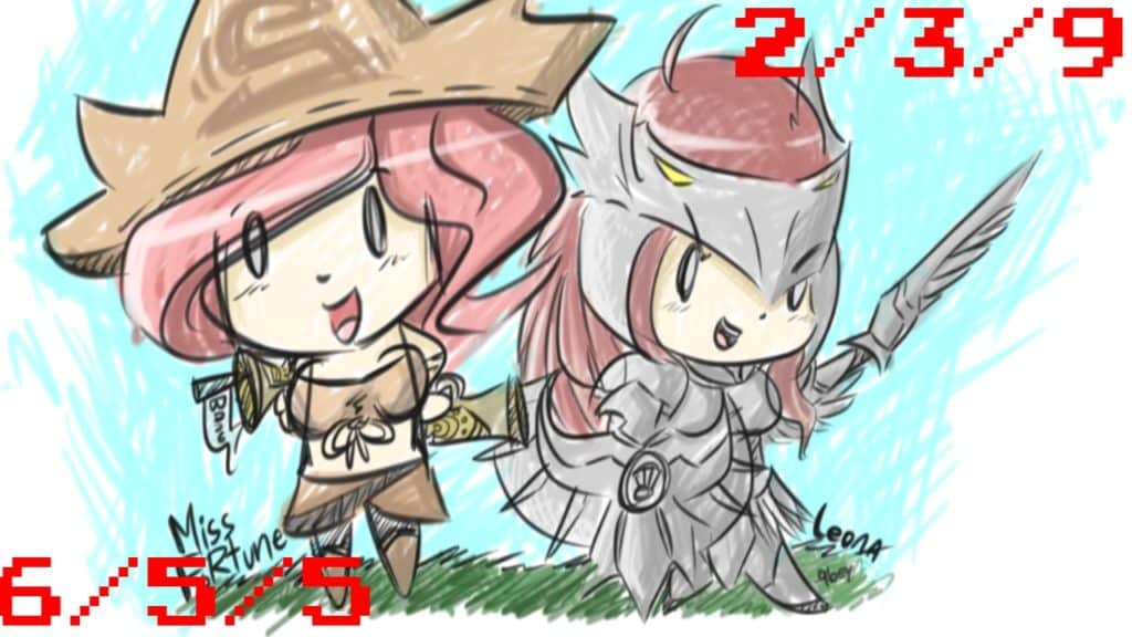Hand drawn Leona and Miss Fortune Champion Combos